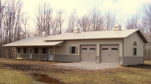 Pole barn homes by parco in newfane ny pole barn homes for Pole built homes
